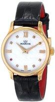 Marvin Women's M020.51.77.74 Malton Analog Display Swiss Quartz Black Watch