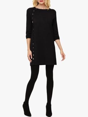 Phase Eight Bellatrix Button Dress, Charcoal