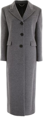 Salvatore Ferragamo Single Breasted Fitted Long Coat