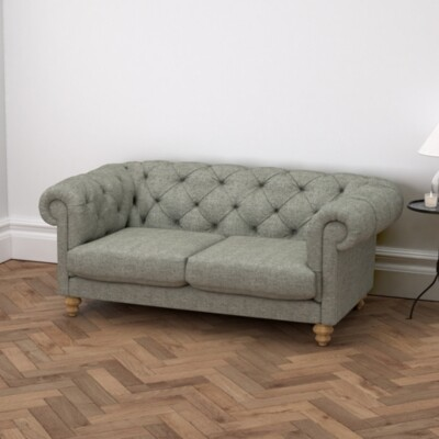 The White Company Hampstead 3 Seater Sofa Tweed, Tweed Mid Grey, One Size
