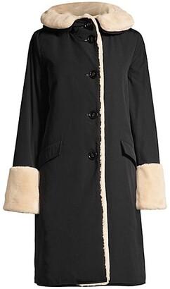 Jane Post Faux Fur-Lined Storm Coat