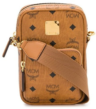 MCM all-over logo messenger bag