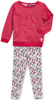 U.S. Polo Assn. Berry Pocket Top & Diamond Leggings - Infant Toddler & Girls