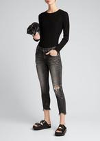 Moussy Vintage Glendele Distressed Cropped Skinny Jeans