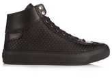 Jimmy Choo Agyle High-top Rubber-stars Satin Trainers