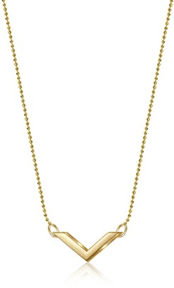 "Alex Woo Elements"" 14k Yellow Gold Chevron Pendant Necklace 16"""