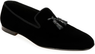 Tom Ford Men's Velvet Tassel Loafers