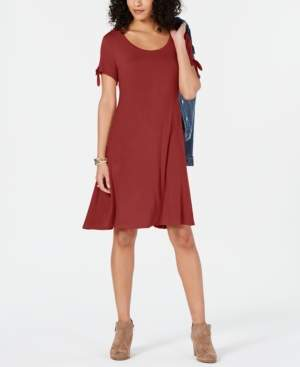 Style&Co. Style & Co Petite Tie-Sleeve Swing Dress, Created for Macy's