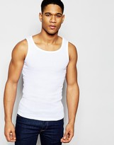 !solid Solid Ribbed Vest