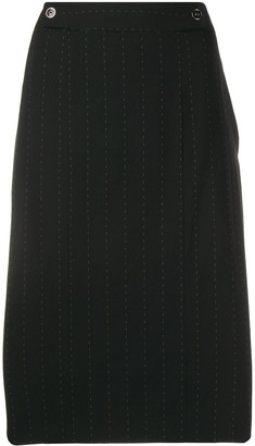 Salvatore Ferragamo Pre-Owned 2000's Pinstripe Straight Skirt