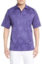 Bugatchi Men's Jacquard Mercerized Cotton Polo