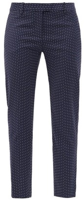 Altuzarra Henri Pinstriped Crepe Slim-leg Trousers - Navy
