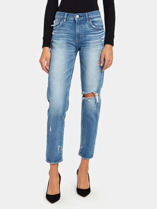 Moussy Helendale Mid Rise Deconstructed Ankle Skinny Jeans