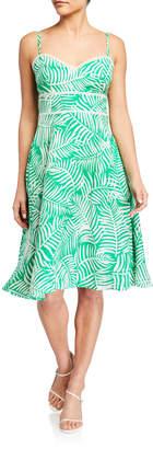 Eliza J Leaf Print Fit-&-Flare Dress