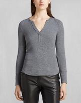 Belstaff Elaine Henley Shirt Grey Melange