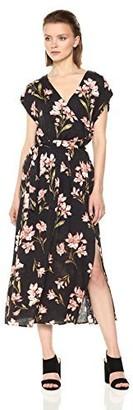 MinkPink Women's Nightshade Floral Print Wrap Midi Dress