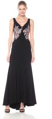 Xscape Evenings Women's Long Ity Dress with Embroidery