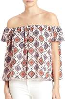 Elizabeth and James Women's Piper Off-The-Shoulder Metallic Silk Top - Size x-small
