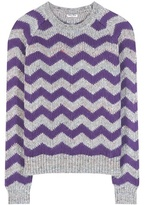 Miu Miu Printed Wool, Alpaca And Silk Sweater