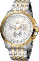 Ferré Milano Men's 45mm Stainless Steel Tachymeter Diver Watch with Bracelet, Steel/Gold