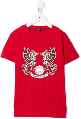 Il Gufo dragon print T-shirt