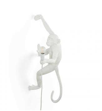 Seletti White Right Hand Hanging Monkey Outdoor Lamp - white - White/White