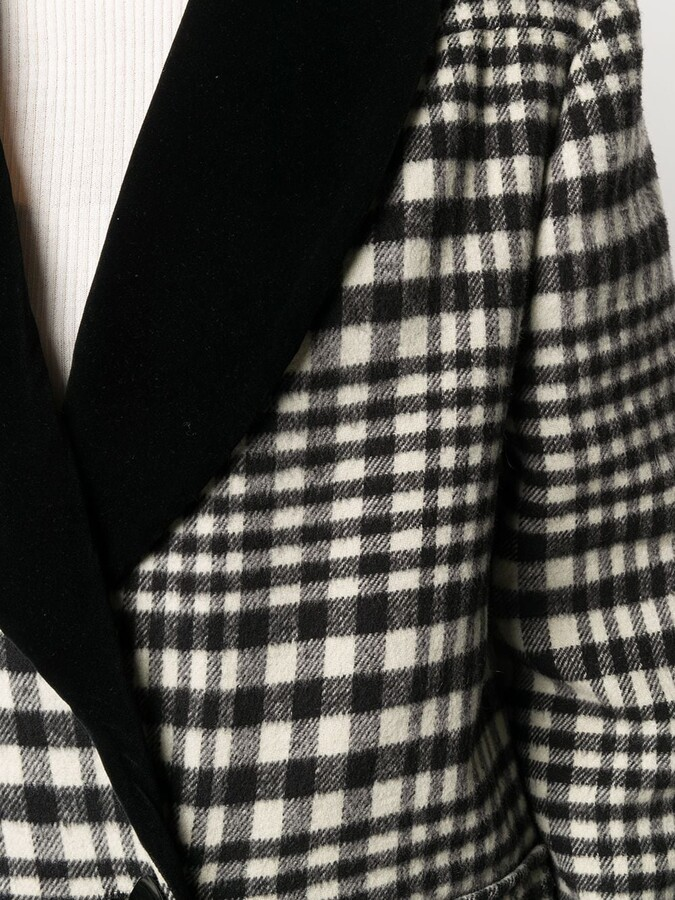 Thumbnail for your product : Valentino Pre-Owned 1980s Tartan Double-Breasted Coat