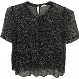 American Vintage Black Silk Top for Women