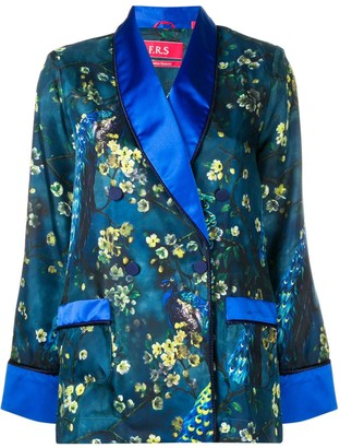 F.R.S For Restless Sleepers Blossom Print Satin Shirt
