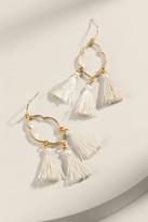 francesca's Pamela Morrocan Shape Tassel Earrings - Ivory