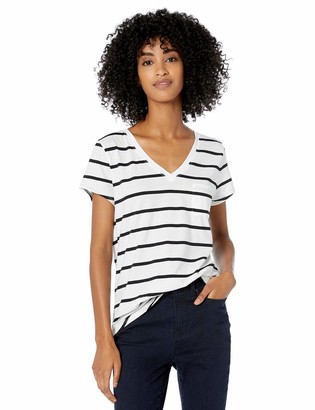 Goodthreads Washed Jersey Cotton Pocket V-neck T-shirt Soft Pink US (EU XS-S)