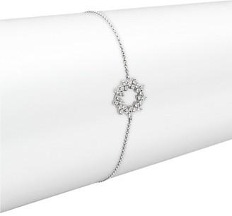 Hueb 18K White Gold Circular Wreath Diamond Pendant Bracelet