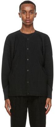 Homme Plissé Issey Miyake Black Pleated Jacket