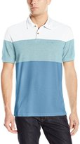 Izod Men's Short Sleeve Newport Oxford Engineered Stripe Polo