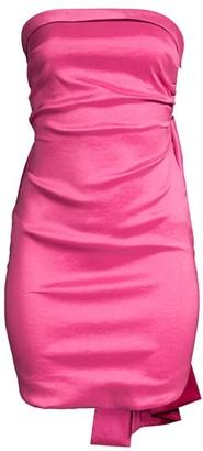LIKELY Bow Satin Mini Dress