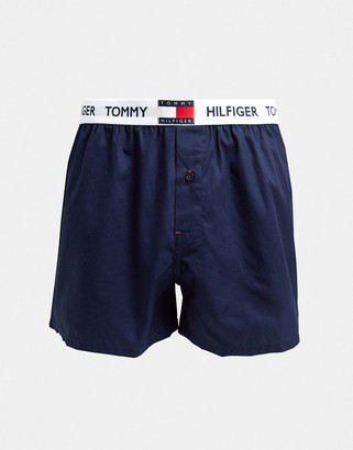 Tommy Hilfiger contrast waistband woven boxers in navy