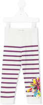 Junior Gaultier striped leggings - kids - Cotton/Spandex/Elastane - 24 mth