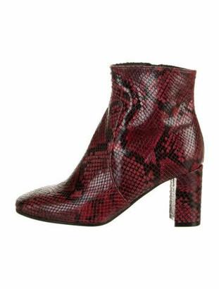 Barneys New York Snakeskin Animal Print Boots