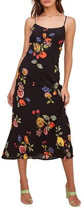 ASTR the Label Charisma Dress (Black Mixed Fruit Print) Women's Dress