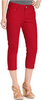 Tuberose Lee Platinum Jeans, Bali Skinny Capri, Wash