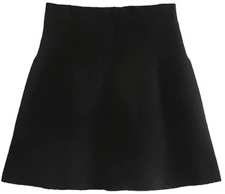 Goodnight Macaroon 'Kitty' Knitted A-line Mini Skirt (2 Colors)