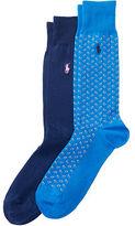 Polo Ralph Lauren Paisley Trouser Sock 2-Pack