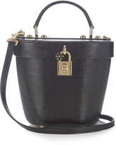 Dolce & Gabbana Lizard-effect leather basket bag