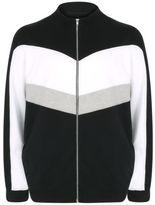 Yours Clothing BadRhino Plus Size Mens Sweater Jumper Sweatshirt Sweat Black Zip Up Shirt