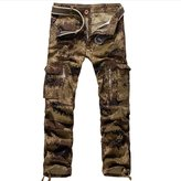 Come On Comeon Men Fashion Military Camouflage Print Casual Cargo Pants Trousers