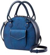 Martella Bags Metallic Blue Leather Handbag