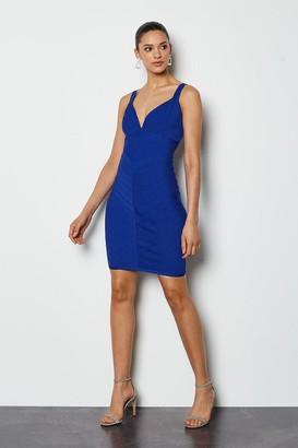 Karen Millen Sleeveless Stripe Bandage Dress