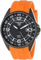 Torgoen Pilot T25302 45mm Stainless Steel Case Orange Polyurethane Hardlex Men's Watch
