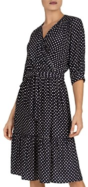 Gerard Darel Sasha Polka-Dot Wrap Dress