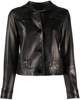 Louis Vuitton pre-owned stitched details leather jacket